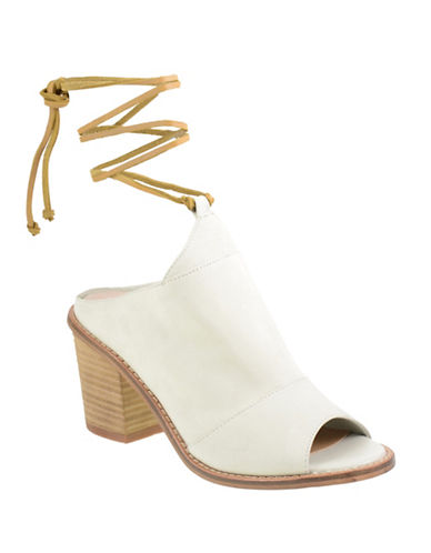 Chinese Laundry Leather Stacked-Heel Mules-WHITE-7.5
