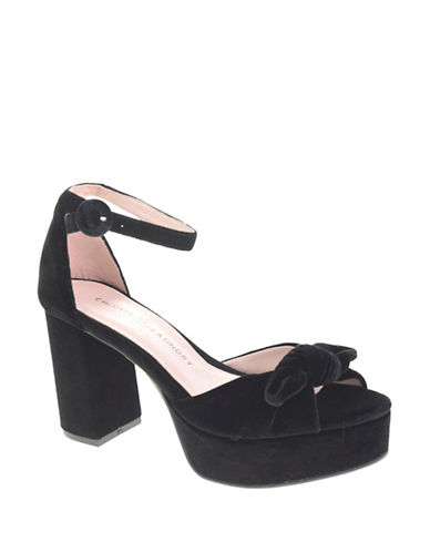 Chinese Laundry Velvet Platform Sandals-BLACK-6.5 89190892_BLACK_6.5