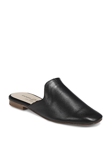 Chinese Laundry Leather Mule Loafers-BLACK-6.5