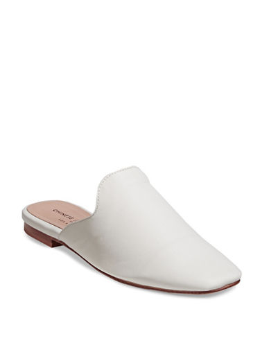 Chinese Laundry Leather Mule Loafers-WHITE-8.5