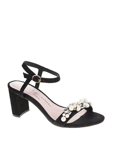 Chinese Laundry Rosetta Open Toe Sandals-BLACK-9.5