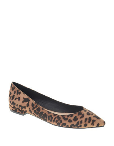 Chinese Laundry Gavin Leopard Microsuede Flats-TAN-6.5