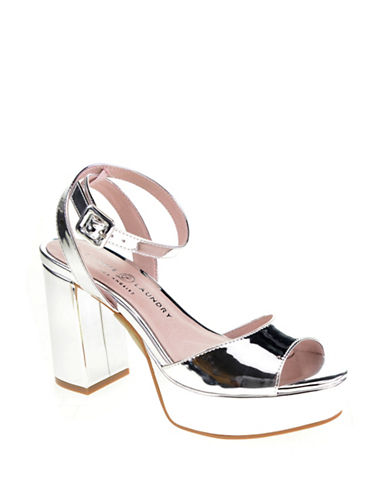 Chinese Laundry Theresa Platform Sandals-SILVER-9.5