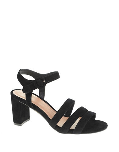 Chinese Laundry Ryden Suede Ankle-Strap Sandals-BLACK-7.5