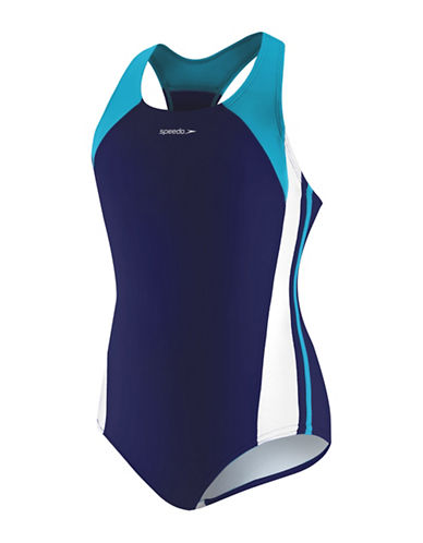 Speedo Infinity Splice One-Piece Swimsuit-BLUE-14
