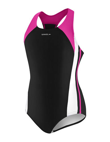 Speedo Infinity Splice One-Piece Swimsuit-BLUSH-12