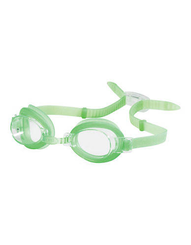 Speedo Splasher Kids Round Goggles-GREEN-One Size