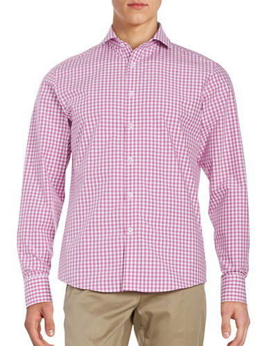 Black Brown 1826 Gingham Sport Shirt-HIBISCUS-X-Large