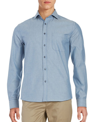 Black Brown 1826 Linen Sport Shirt-PALE BLUE-XXX-Large