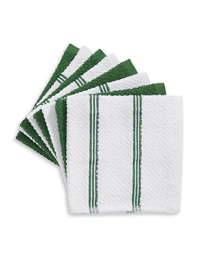 Essential Needs Eight-Set Dish Cloths-GREEN-One Size