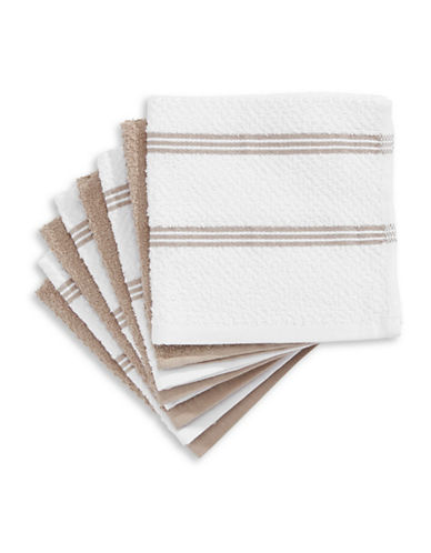 Essential Needs Eight-Set Dish Cloths-BROWN-One Size