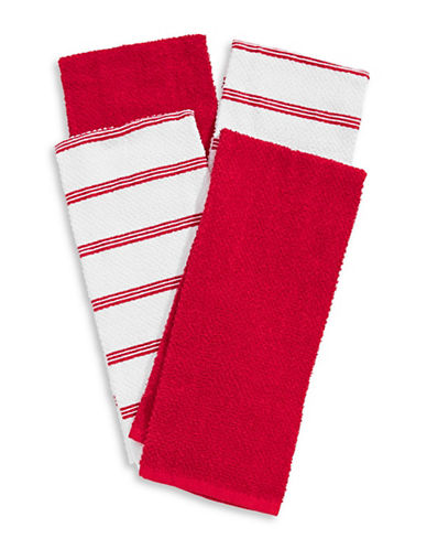 Essential Needs Four-Set Kitchen Towels-RED-Kitchen Towel