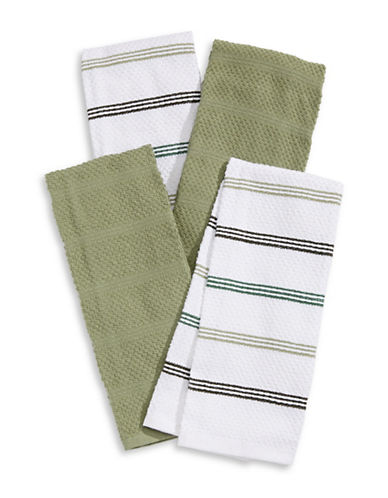 Essential Needs Four-Set Kitchen Towels-GREEN-Kitchen Towel