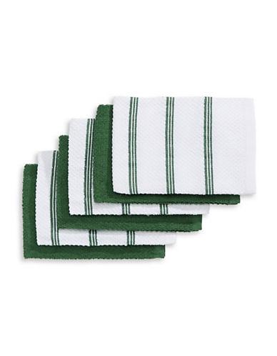 Essential Needs Six-Piece Cotton Bar Mop Set-GREEN-One Size