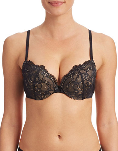 Maidenform DM9900 Underwire Push-Up Bra-BLACK-32C