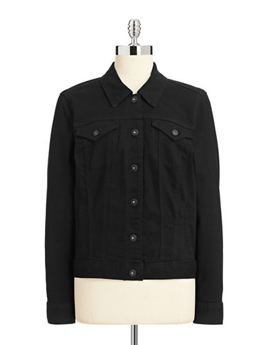 Style And Co. Classic Denim Jacket-BLACK-Large