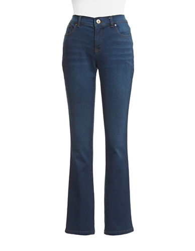 Style And Co. Petite Tummy Control Boot Cut Jeans-INKWELL-Petite 4