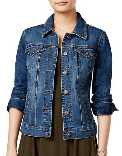 Style And Co. Petite Basic Denim Jacket-BLUE-Petite X-Large