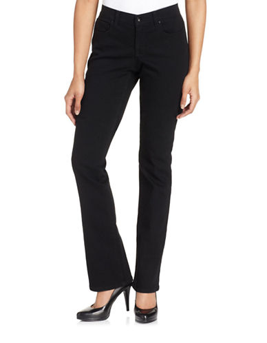 Style And Co. Petite Petite Tummy Control Modern Bootcut Jeans Noir Wash-BLACK-Petite 2