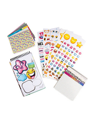 Fashion Angels Emoji Sticker Compact Portfolio-MULTI-One Size