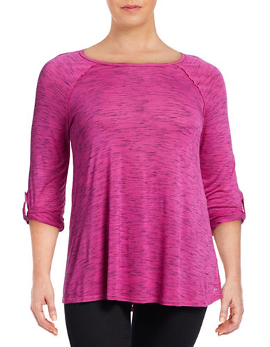 Calvin Klein Performance Plus Convertible Roll-Tab Performance Top-PINK-1X 88512127_PINK_1X