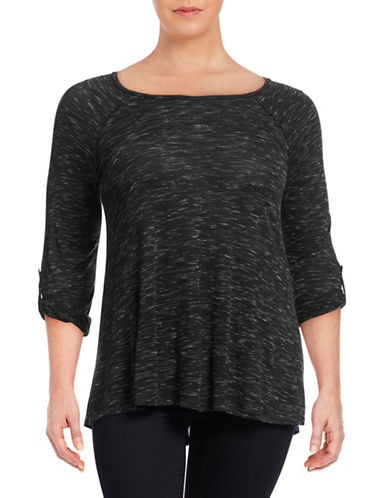 Calvin Klein Performance Plus Convertible Roll-Tab Performance Top-GREY-1X 88512124_GREY_1X