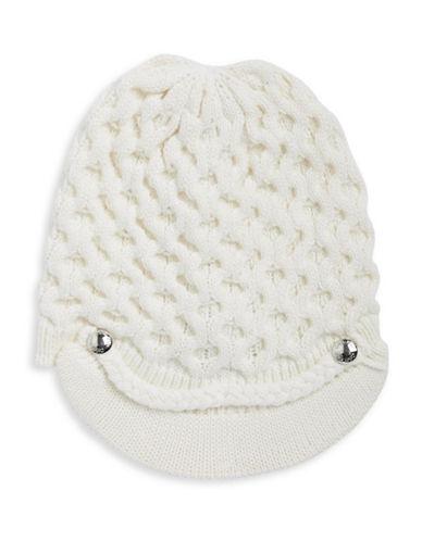 Calvin Klein Honeycomb Knit Cabbie Hat-CREAM-One Size