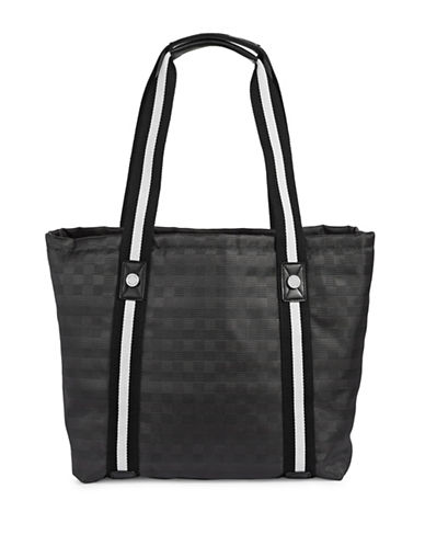 Calvin Klein Athleisure Woven Tote Bag-GREY-One Size