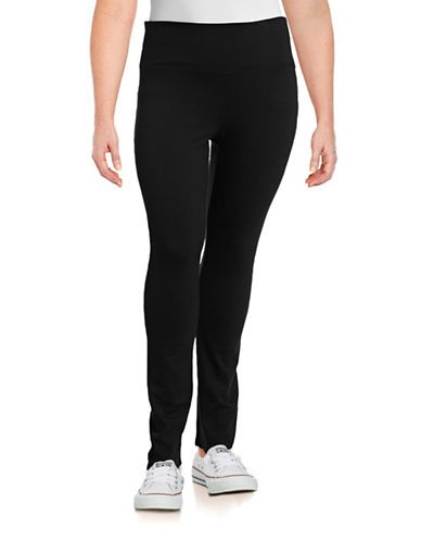 Calvin Klein Performance Plus High-Waist Slimming Jogger Pants-BLACK-1X 88560679_BLACK_1X