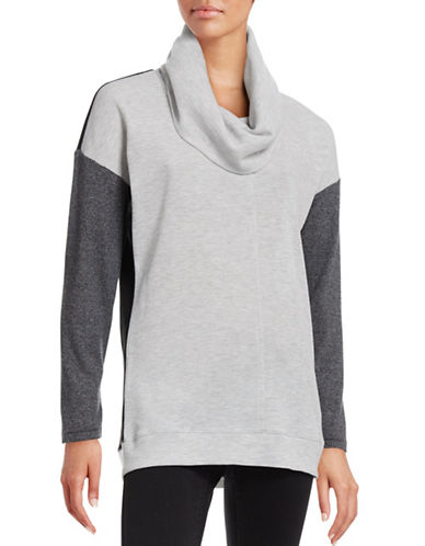 Calvin Klein Performance Performance Knit Colourblock Top-GREY-Large 88657148_GREY_Large