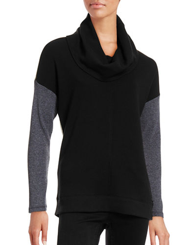 Calvin Klein Performance Performance Knit Colourblock Top-BLACK-Large 88657143_BLACK_Large