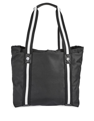 Calvin Klein Athleisure Woven Tote Bag-BLACK-One Size