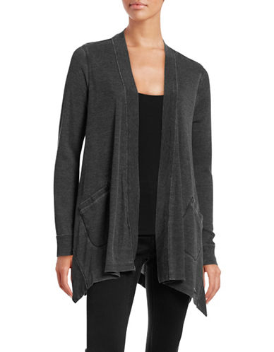 Calvin Klein Performance Washed Waffle-Knit Cardigan-CHARCOAL-X-Large 88509081_CHARCOAL_X-Large