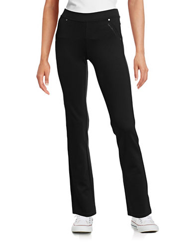 Calvin Klein Performance Ponte Pant Leggings-BLACK-Medium