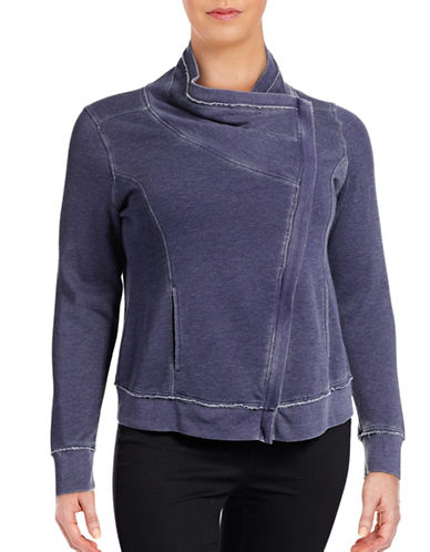 Calvin Klein Performance Plus Asymmetrical Zip Jacket-PURPLE-1X 88632249_PURPLE_1X