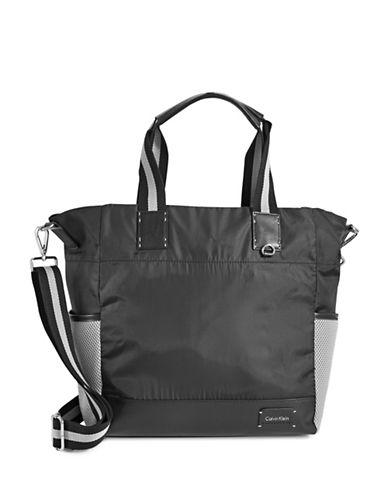 Calvin Klein Athleisure Mesh Side Tote-BLACK-One Size 88703636_BLACK_One Size