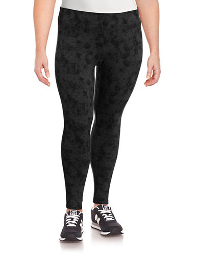 Calvin Klein Performance Plus Sophisticated Printed Leggings-SLATE HEATHER-1X 88632243_SLATE HEATHER_1X