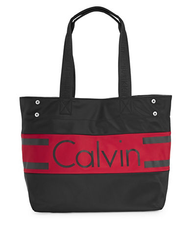 Calvin Klein Graphic Nylon Tote Bag-GREY-One Size