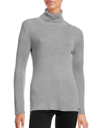 Calvin Klein Ribbed Turtleneck Sweater-GREY-Large 88731611_GREY_Large