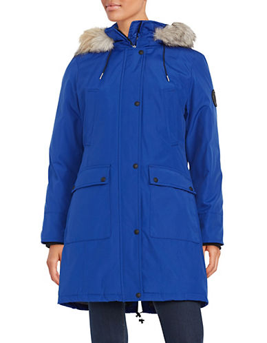 Calvin Klein The Coat Edit Faux Fur Trim Performance Parka-ATLANTIS-Medium 87666554_ATLANTIS_Medium