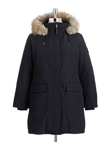 Calvin Klein The Coat Edit Plus Water-Resistant Down Filled Coat-NAVY-1X 87666197_NAVY_1X