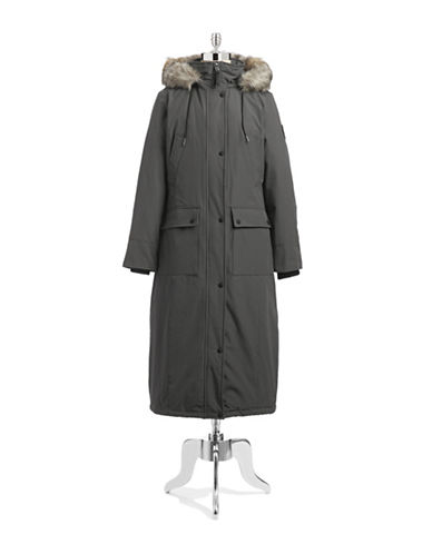 Calvin Klein The Coat Edit Long Performance Parka-GREY-X-Small 87662459_GREY_X-Small