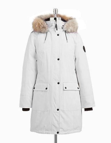 Calvin Klein The Coat Edit Faux Fur Trim Performance Parka-WHITE-Small 87662440_WHITE_Small