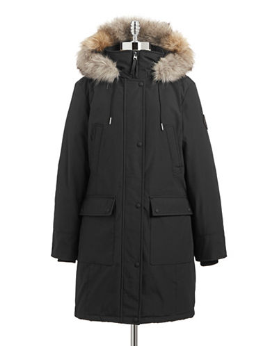 Calvin Klein The Coat Edit Faux Fur Trim Performance Parka-BLACK-X-Small 87662434_BLACK_X-Small