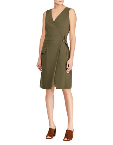 Polo Ralph Lauren Stretch Wrap Dress-GREEN-4