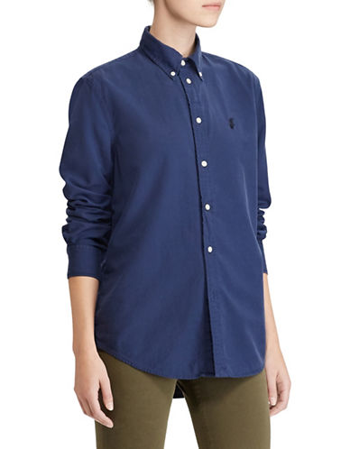 Polo Ralph Lauren Relaxed-Fit Oxford Shirt-NAVY-Medium