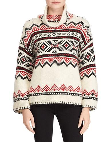 Polo Ralph Lauren Graphic Funnel Neck Sweater-MULTI-X-Small