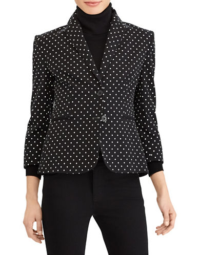 Lauren Ralph Lauren Twill Two-Button Jacket-BLACK-12