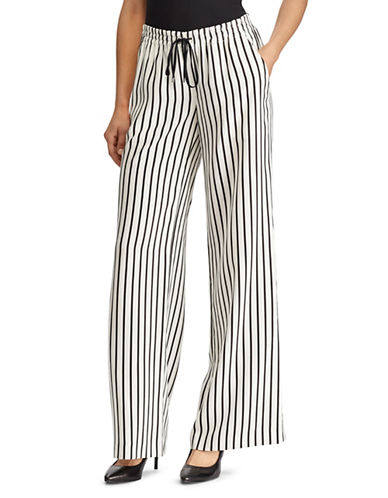 Lauren Ralph Lauren Striped Wide-Leg Pants-CREAM-Large