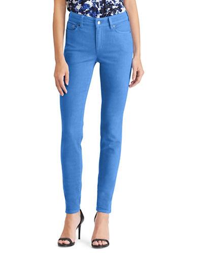 Lauren Ralph Lauren Premier High-Rise Skinny Jeans-BLUE-12